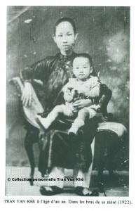 01 - 1922 Tran Van Khë et sa maman - copyright collection personnelle